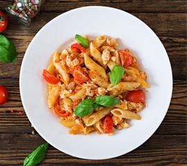 Pasta Tomates Légumes Grillés